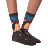Women's Sunset Horses Crew Socks