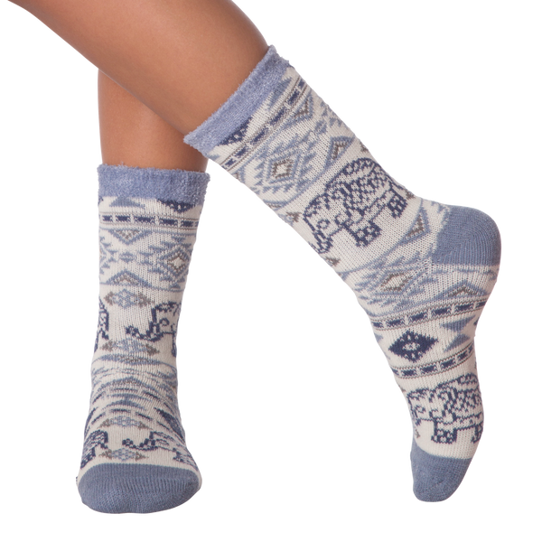 Women's Elephant Double Layer Crew Socks
