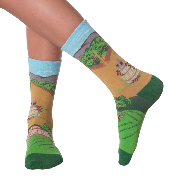 Women's Winery Crew Socks - American Made