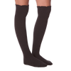 Women's Soft & Dreamy Ribbed Scallop Top Over The Knee Socks