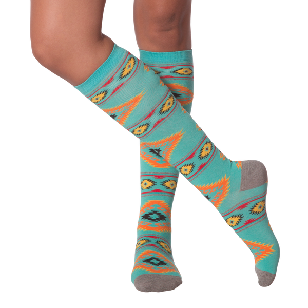 Women's Southwestern Blanket Knee High Socks