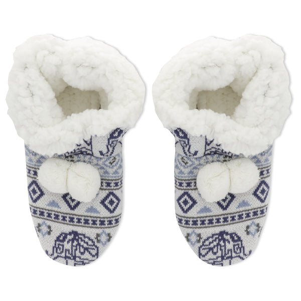 Women's Elephant Fairisle Slippers