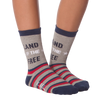 Women's Land Of The Free Crew Socks -  American Made