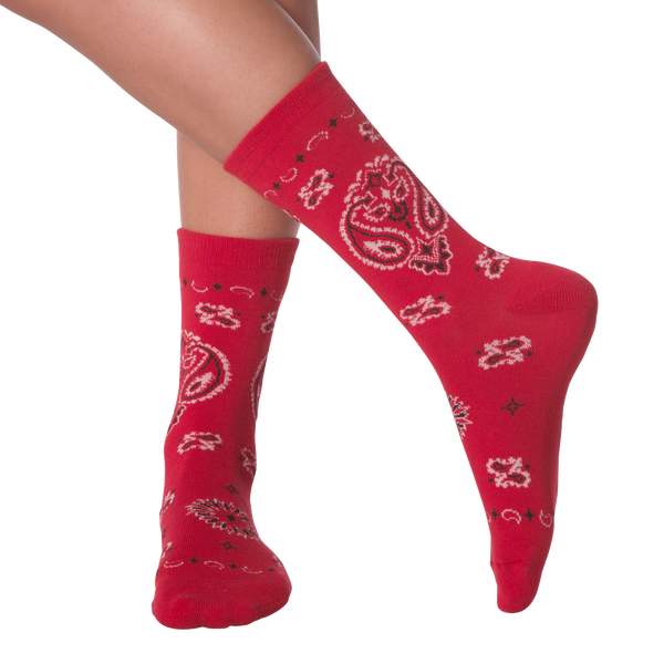 Women's Bandana Crew Socks -  American Made