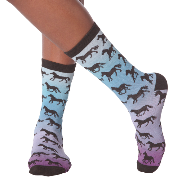 Women's Horse Sunset Crew Socks