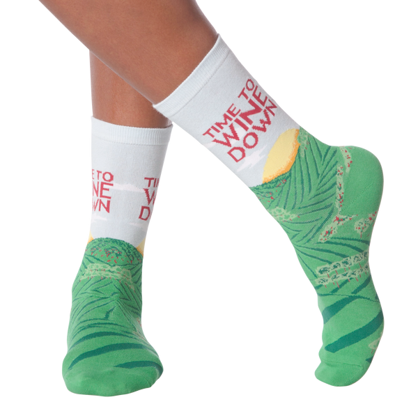 Women's Wine Down Crew Socks