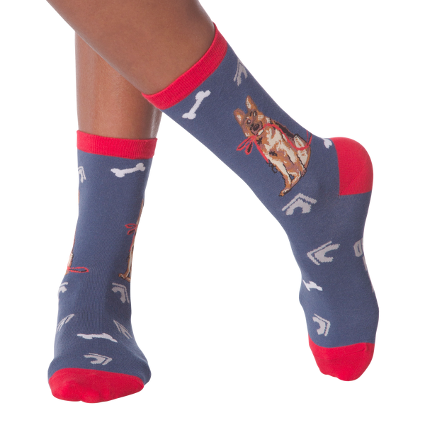 Women's German Shepherd Crew Socks