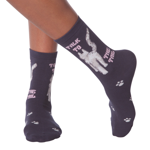 Women's Talk To The Tail Crew Socks