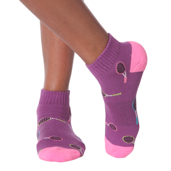 Women's Colorful Tennis Racket Ankle Socks