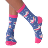 Women's Cat Bath Crew Socks