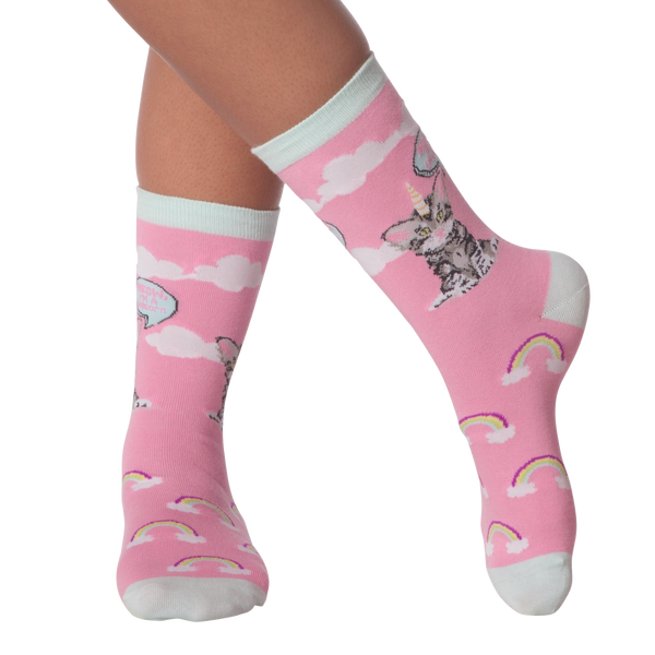 Women's Cat Unicorn Crew Socks