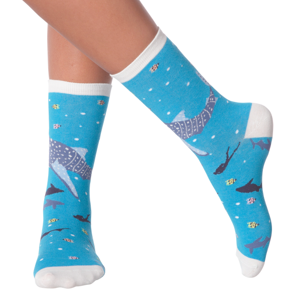 Women's Whale Shark Crew Socks