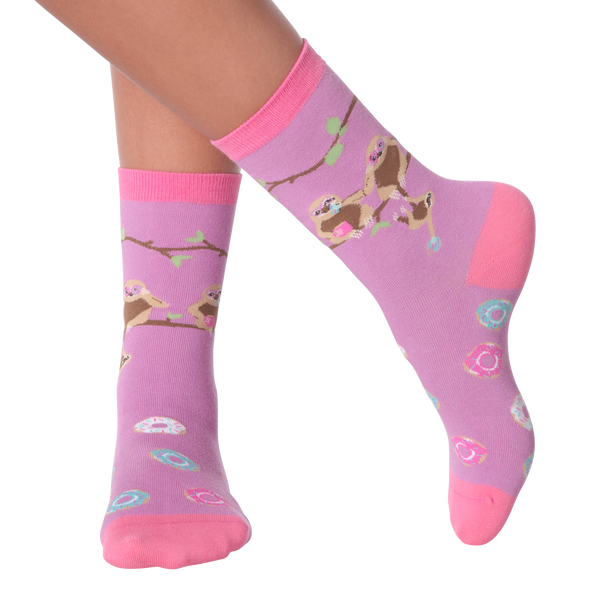 Women's Sloths & Donuts Crew Socks