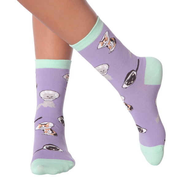 Women's Cone Cats Crew Socks