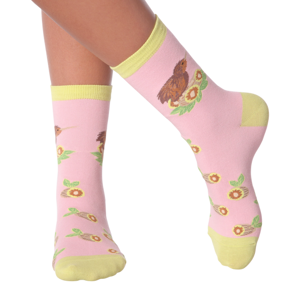 Women's Kiwi Bird Crew Socks