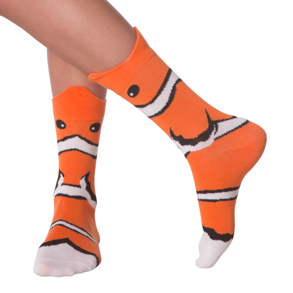 Women's Wide Mouth Clown Fish Crew Socks