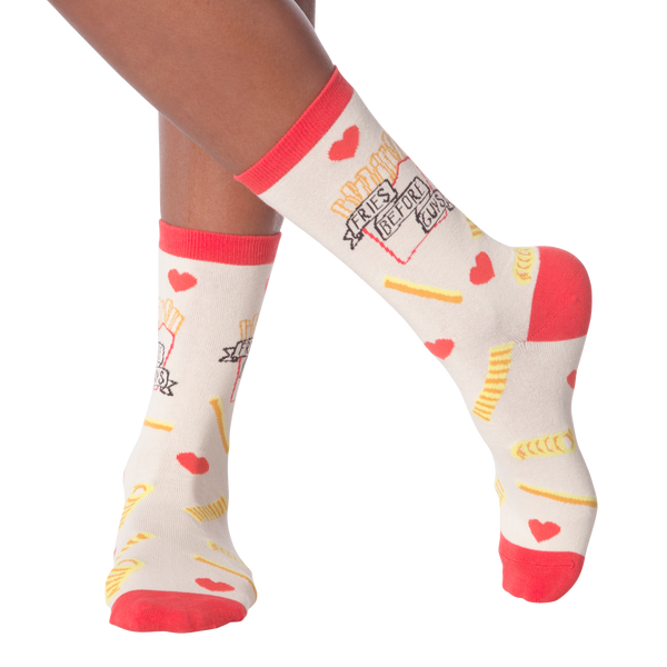 Women's Fries Before Guys Crew Socks