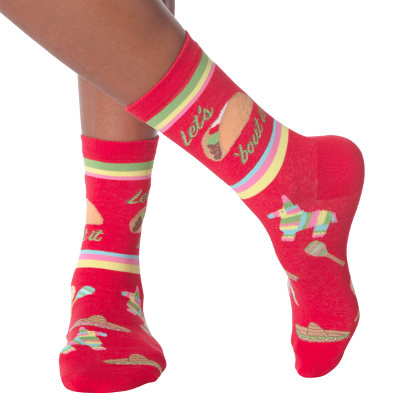 Women's Let's Taco Crew Socks