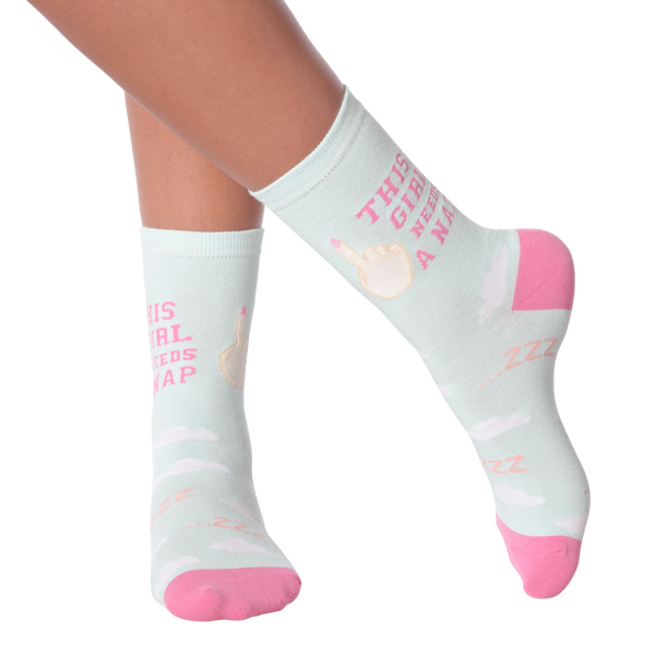 Women's Nap Girl Crew Socks