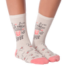 Women's But First Coffee Crew Socks