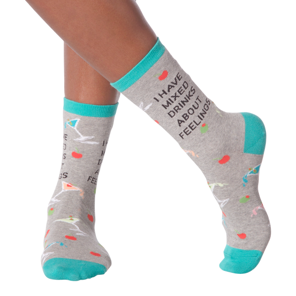 Women's Mixed Drinks Crew Socks