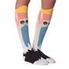 Women's Wide Mouth Ostrich Knee High Socks