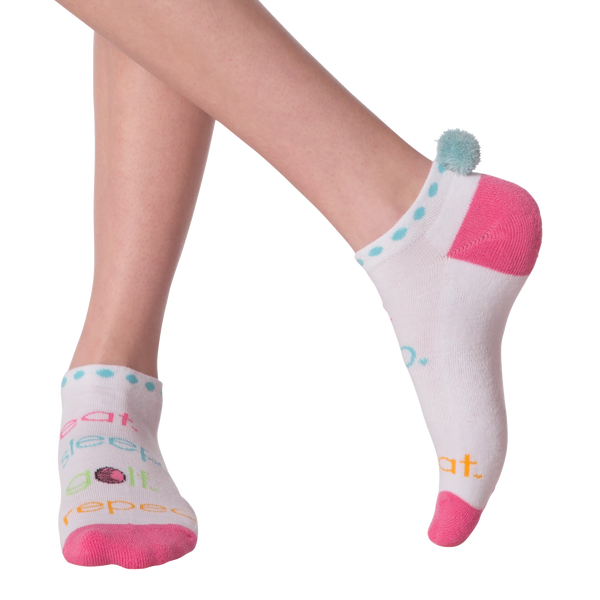 Women's Eat Sleep Golf Ankle Socks