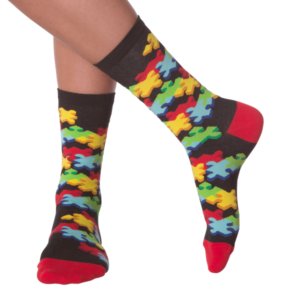 Women's 3D Jigsaw Crew Socks