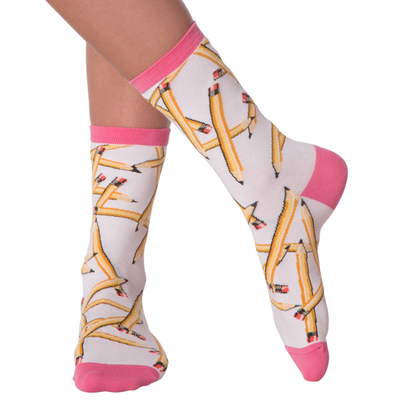 Women's Pencils Crew Socks