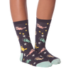 Women's Space Cats Crew Socks