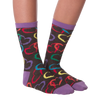 Women's Colorful Hearts Crew Socks