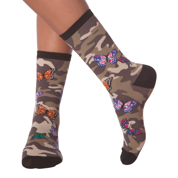 Women's Camofly Butterfly Crew Socks