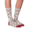 Women's Coffee and Wine Crew Socks