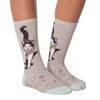Women's Cat & Yarn Crew Socks