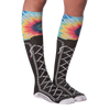 Women's Tie Dye Sneaker Knee High Socks