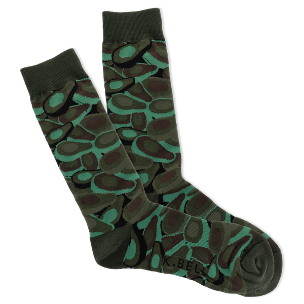 Men's Avocado Camo Crew Socks