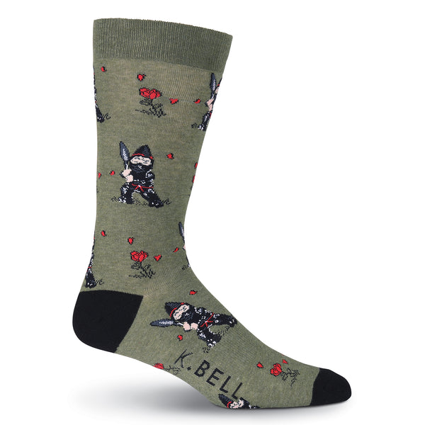Men's Garden Ninja Gnomes Crew Socks