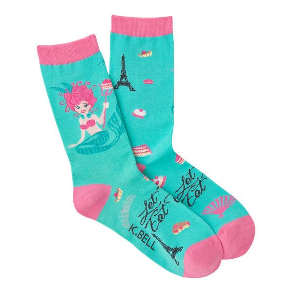 Women's Mermaid Antoinette Crew Socks