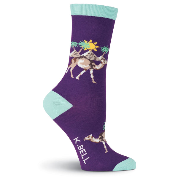 Women's Camels Crew Socks