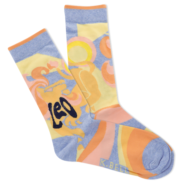 Women's Astrology Leo Crew Socks