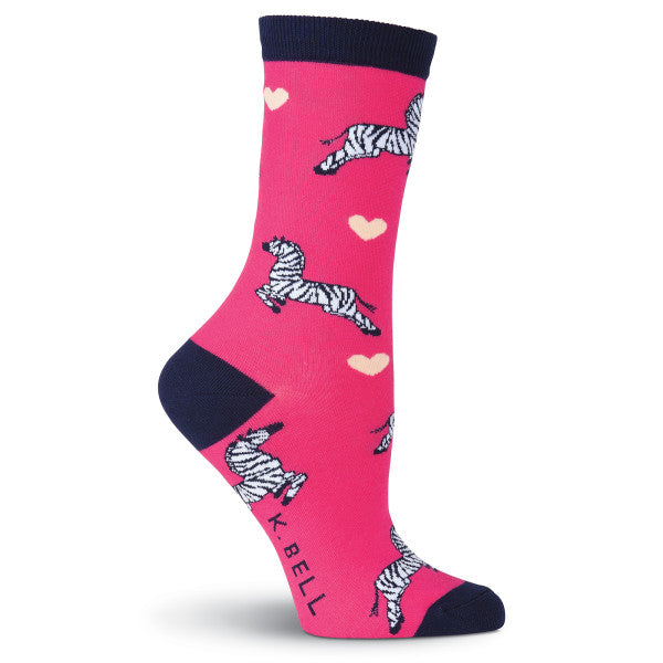 Women's Zebras Crew Socks