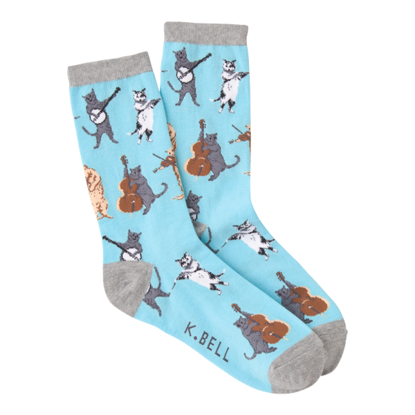 Women's Musical Cats Crew Socks
