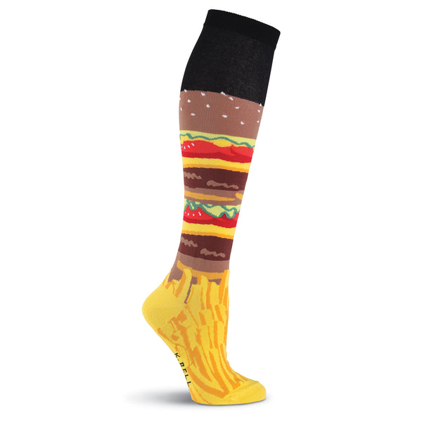 Women's Burgers and Fries Knee High Socks