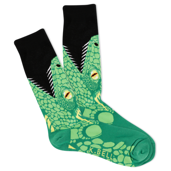 Men's Open Mouth Lizard Crew Socks