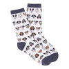 Women's Dog Profile Crew Socks