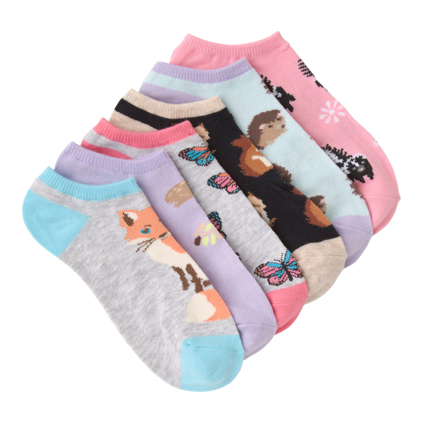 Women's Forest Creatures Ankle Socks Six Pair Pack