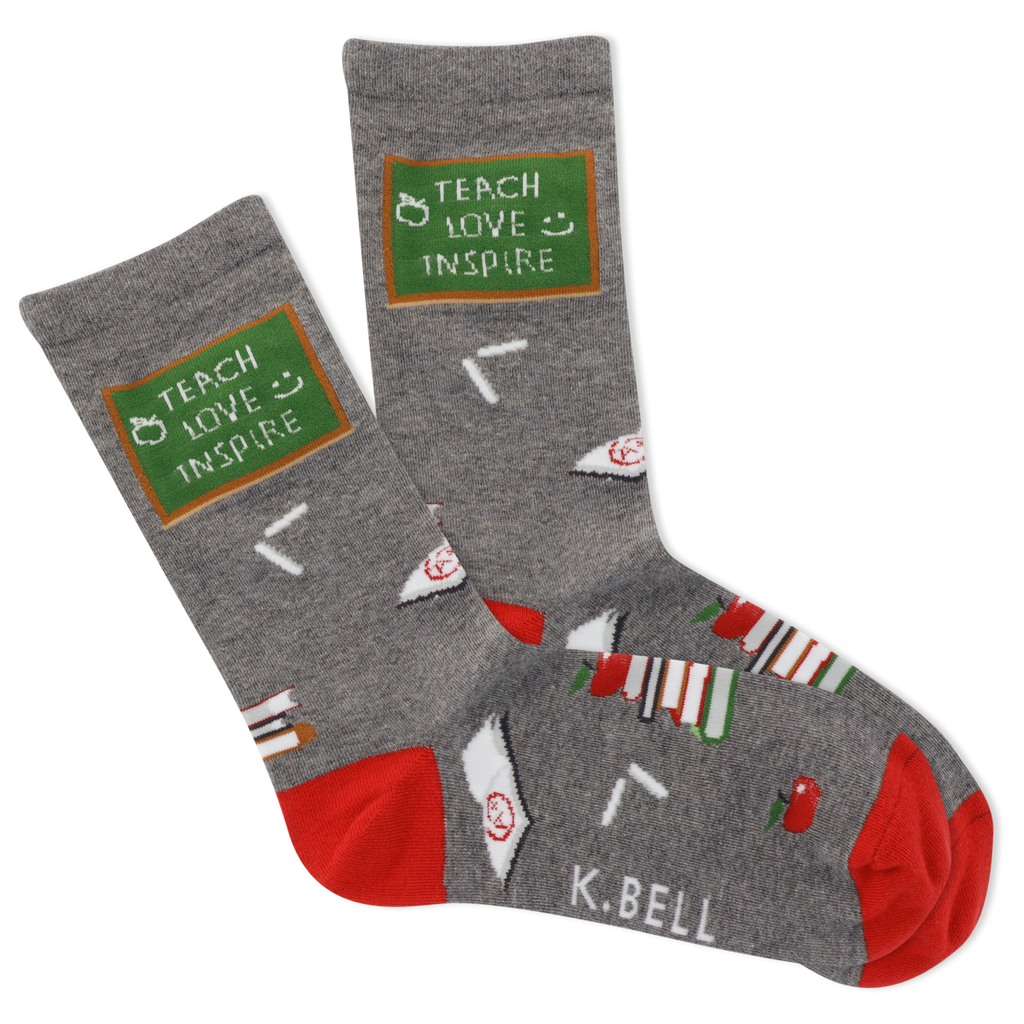 Women's Teach Love Inspire Crew Socks