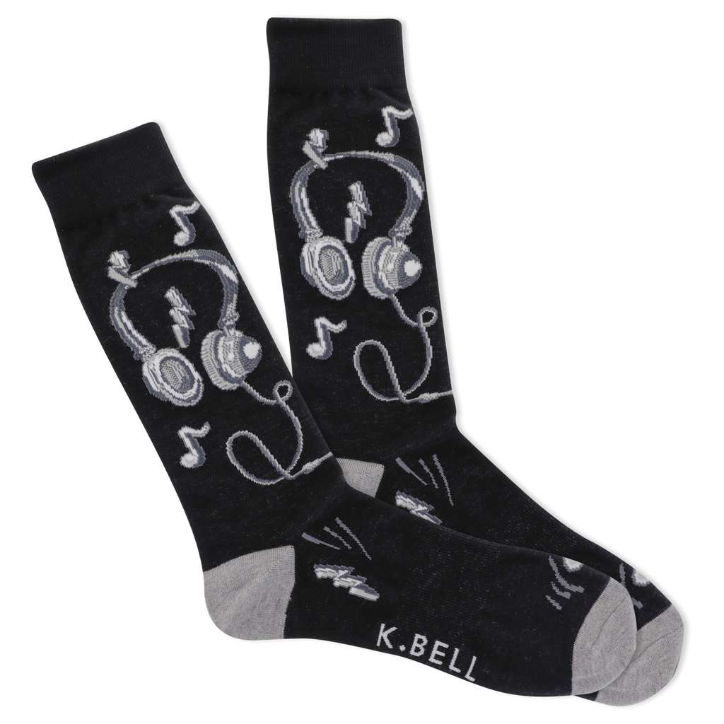 Men's Music Beats Crew Socks