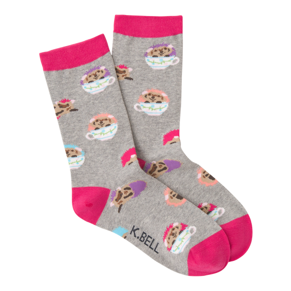 Women's Hedgehog Teacups Crew Socks