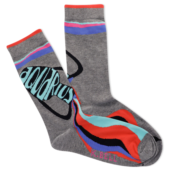 Women's Astrology Aquarius Crew Socks